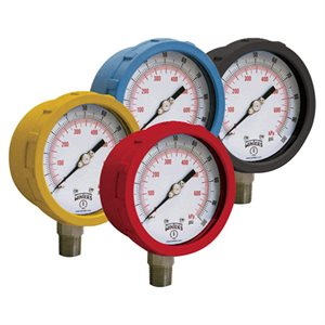 COLOUR CODED GAUGE BR 4'' 0 / 100 PSI / KPA 1 / 4'' NPT BOTTOM